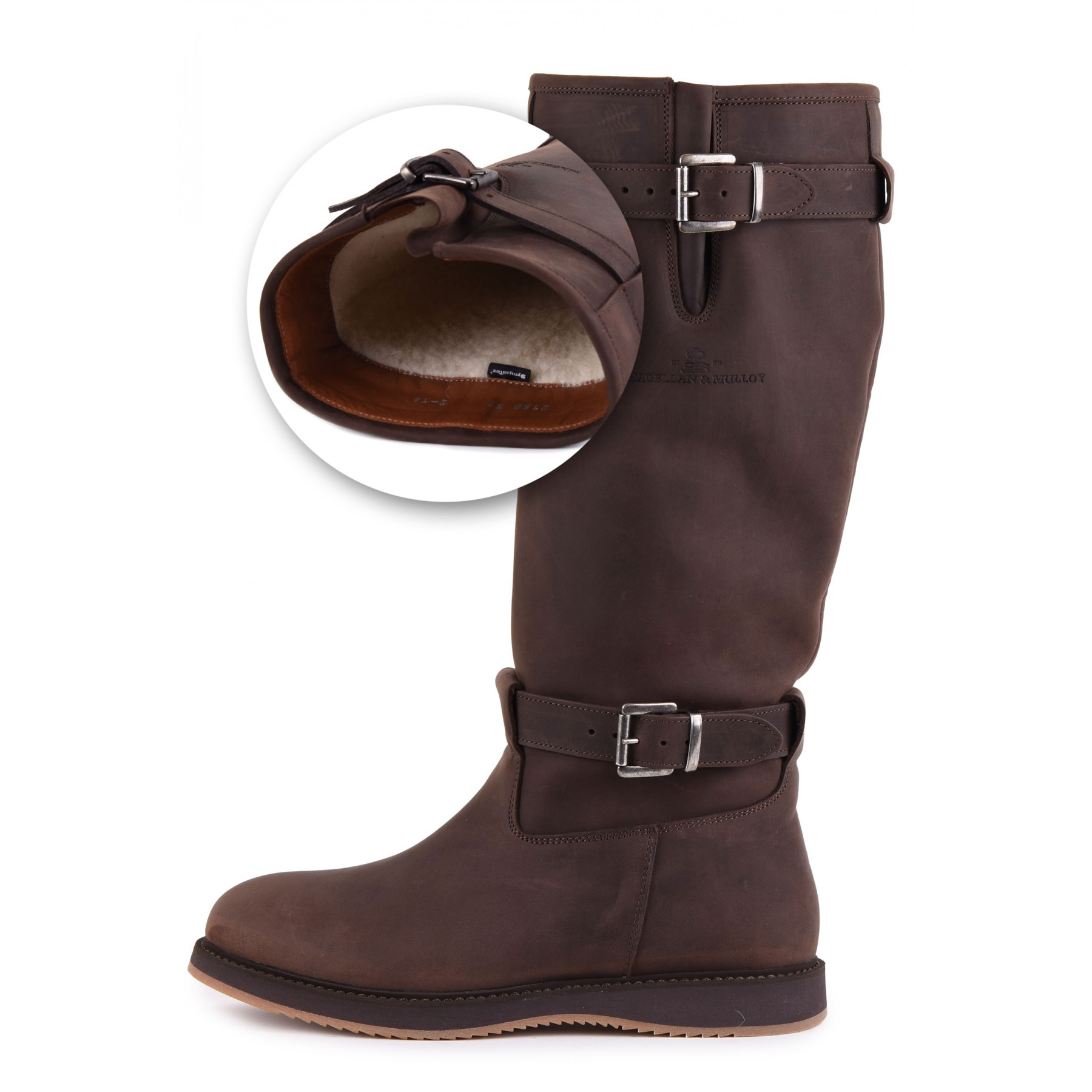 Magellan & Mulloy Xscape Denver Lammfell Brown, dunkelbraune Damen Outdoor Stiefel